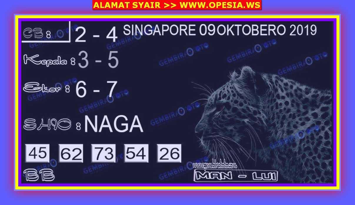 Kode syair Singapore Rabu 9 Oktober 2019 66