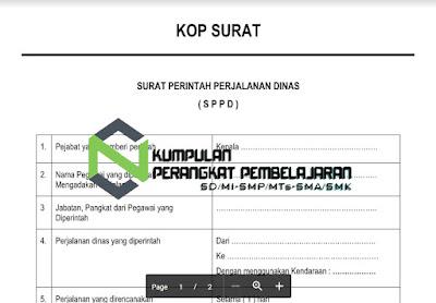 Contoh Surat Perjalanan Dinas (SPPD) Sesuai Dengan Ketentuan