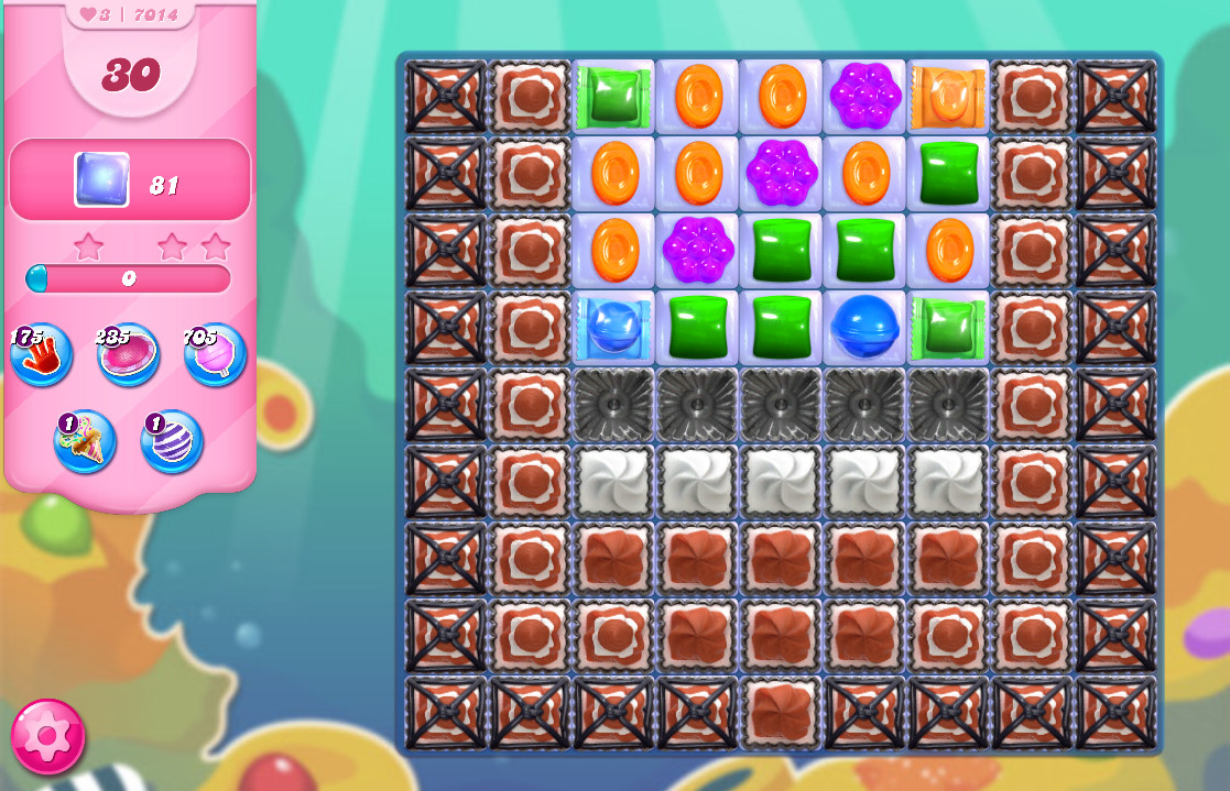 Candy Crush Saga level 7014