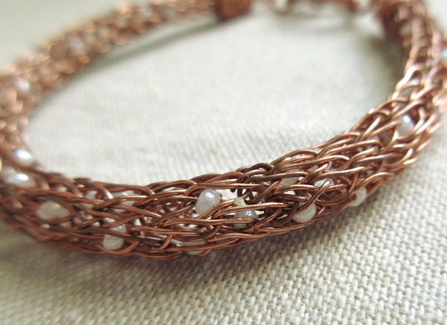 Double Helix Viking Knit Bracelet