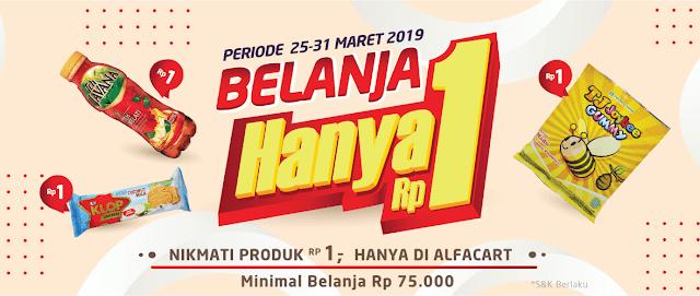 #Alfacart - #Promo Belanja Rp.1 Min Belanja 75K + Gratis Ongkir (s.d 31 Maret 2019)