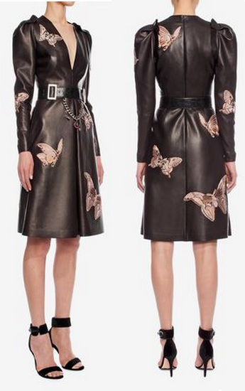 Leather Butterfly Dress