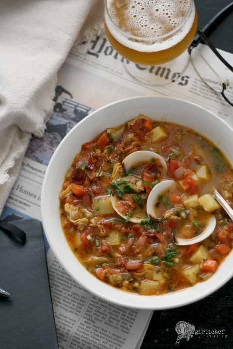 how to cook manhattan clam chowder