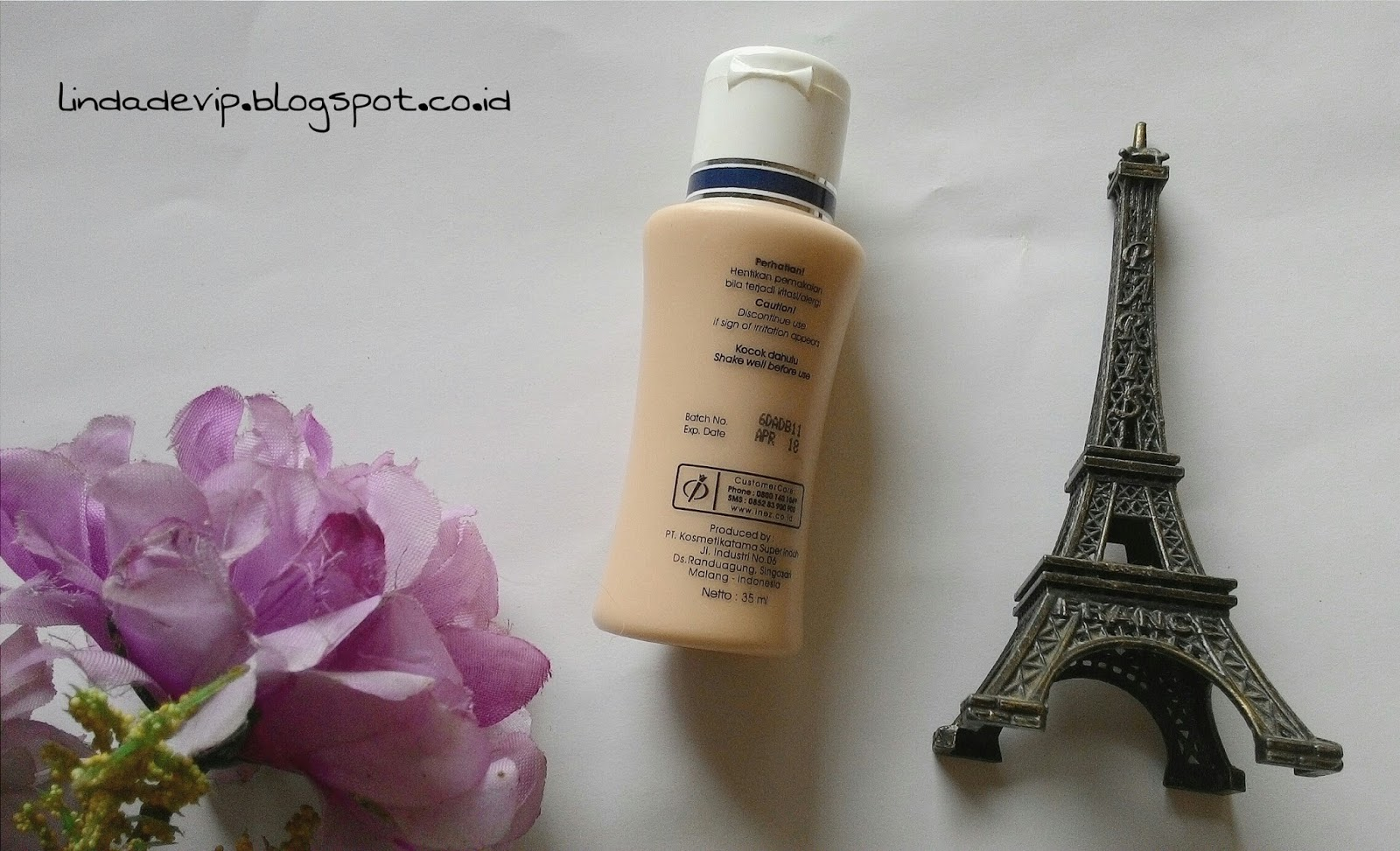 Review Inez Satin Smooth Liquid Foundation 01 Ivory Hi Barbie Lustrous Liquit