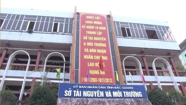 Đoàn kiểm tra của Sở TN&MT tỉnh Bắc Giang