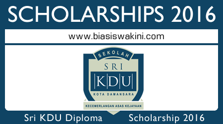 Sri KDU International Baccalaureate Diploma Programme Scholarship 2016