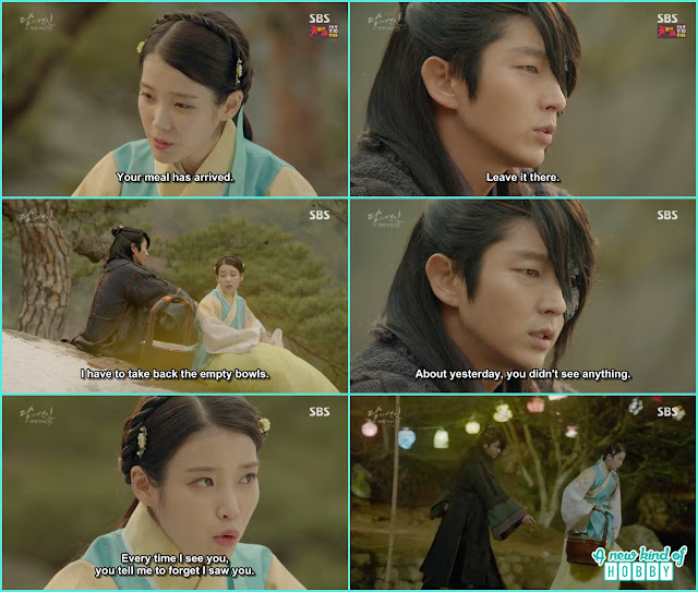 hae soo take food for 4th prince  - Moon Lovers: Scarlet Heart Ryeo - Episode 4 Review