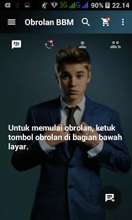 BBM Mod Justin Bieber v2.13.1.14 Apk Terbaru