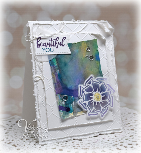 Handmade card by Julee Tilman featuring Verve Stamps | www.poeticartistry.blogspot.com