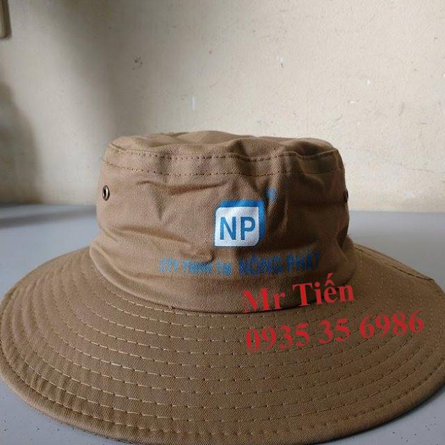 Cơ sở in thêu nón tai bèo, mũ tai bèo, nón nông nghiệp cao cấp