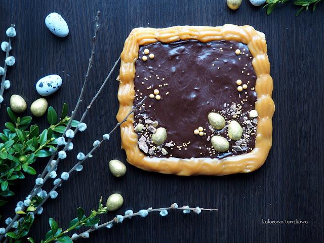 mazurek-czekoladowo-krówkowy