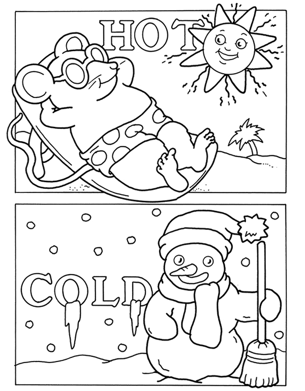 Weather coloring pages for kid ~ inkspired musings: A Snowman for January