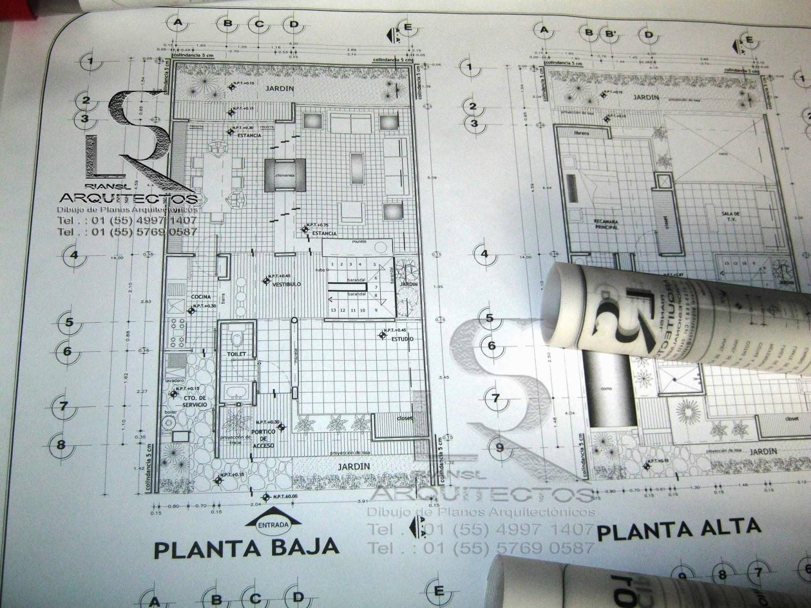 Arq rigoberto s nchez especialista en dibujo de planos for Ejes arquitectonicos