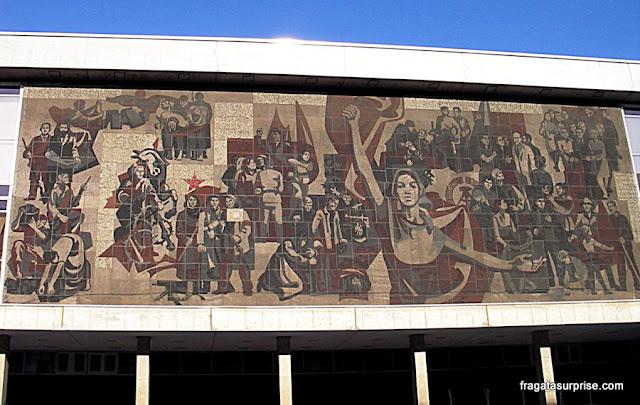 Fachada do Kulturpalast (Palácio da Cultura), Dresden, Alemanha