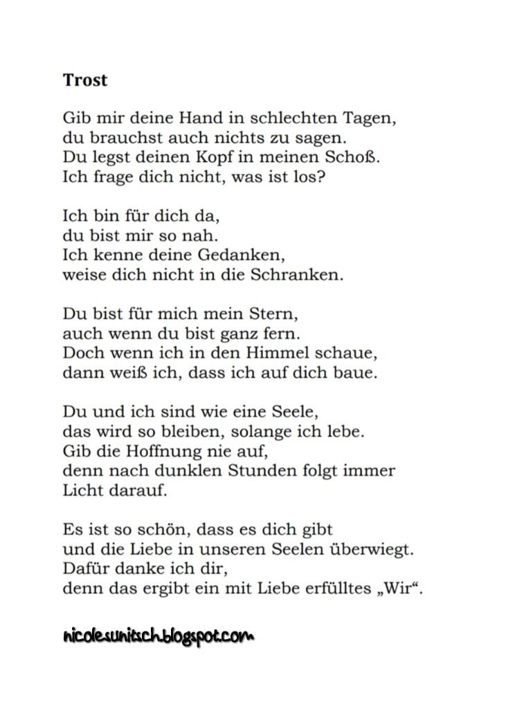 Best Of Gedicht Schön Dass Es Dich Gibt Zitate Freundschaft