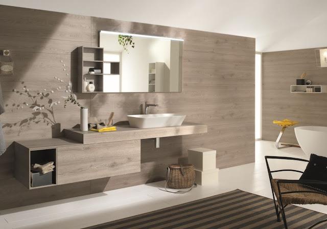 Design in bagno con i lavabi d'appoggio o bacinelle in resina