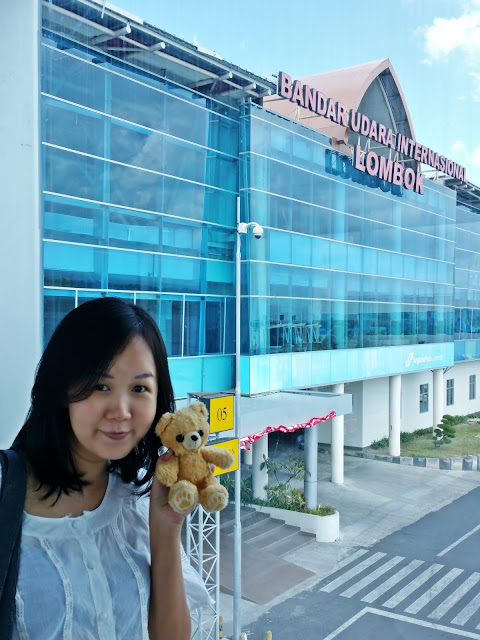 Arrived at Lombok International Airport after 2.5 hours flight from Singapore | www.meheartseoul.blogspot.com