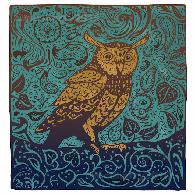 180329 Night Owl. Archival print on Hahnemuhle German Etching paper. Kevin McSherry