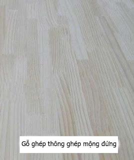 gỗ ghép thông ghép mộng đứng