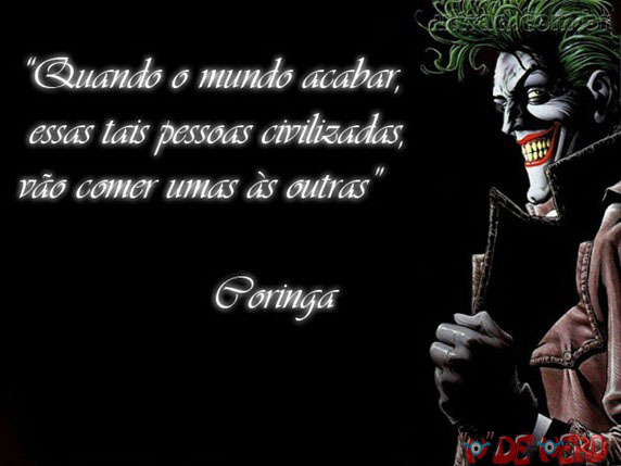 Frases Do Coringa Pensador Para Facebook: Os Detentos: Frases Do CORINGA