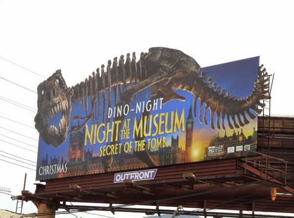 Night at Museum Secret of Tomb dino skeleton billboard