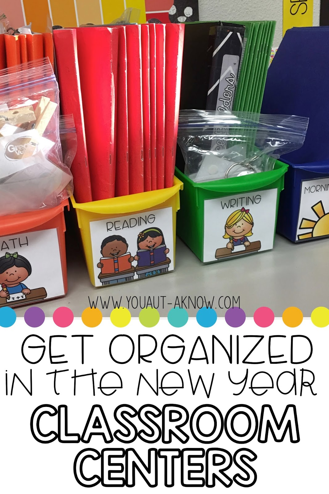 Get your classroom organized in the new year. Special education centers are a breeze when you have an efficient organization system for all the things!