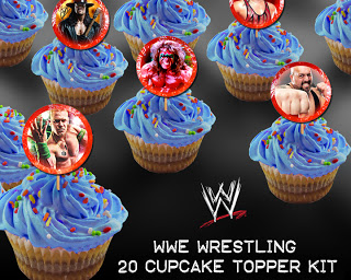 Quirky Artist Loft Free Wwe Cupcake Toppers