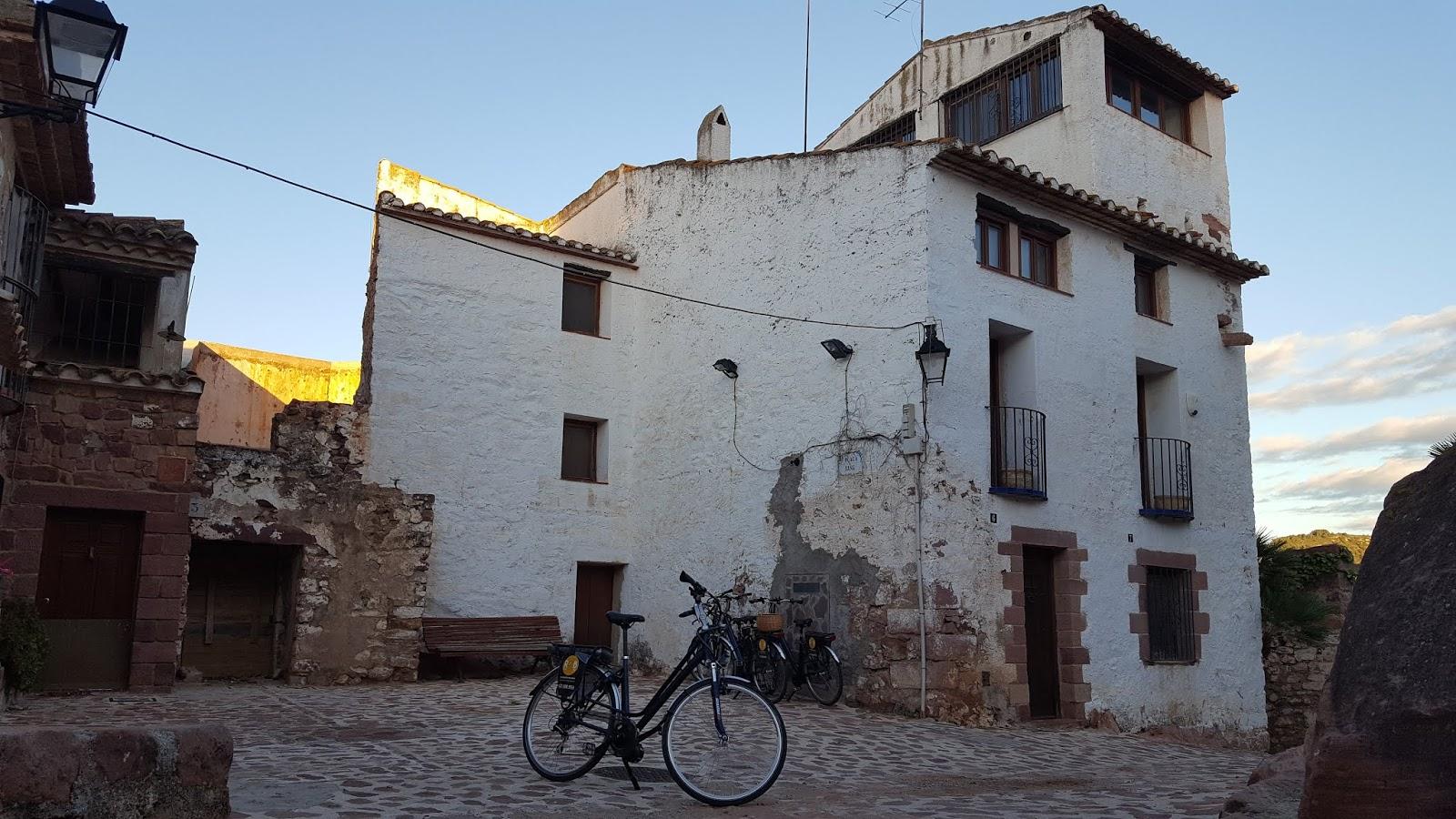 e-bikes in the centre of Villafamés, Castellón