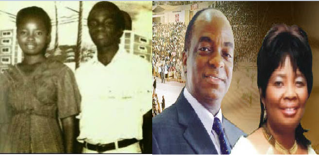 Image result for David and Sister Faith (Oyedepo) during their courting years
