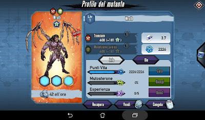Mutants: Genetic Gladiators Breeding video N°489 (Wrath - Warrior # Wrath - Guerriero)