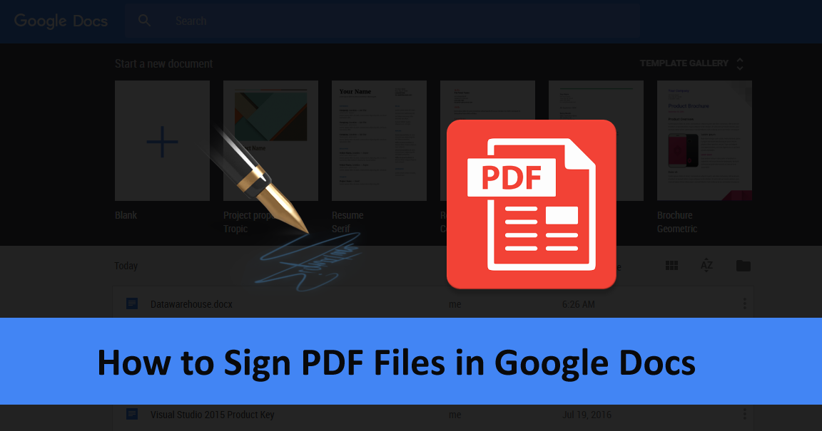 How to Sign PDF files in Google Docs ~ Scholars Globe - News, Tech ...