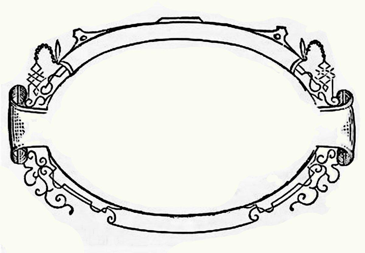 clip art oval frames free - photo #2