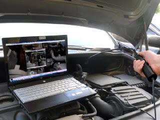 Проверка двигателя видеоэндоскопом на задиры в цилиндрах