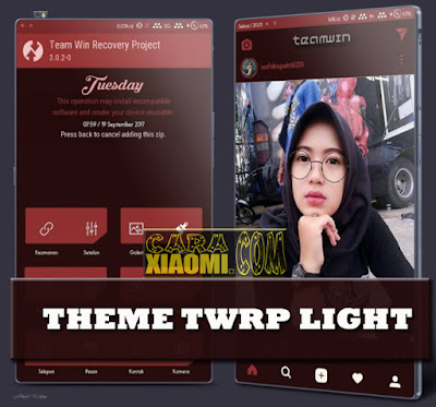 Update Theme MIUI TWRP Mod Light Mtz For Xiaomi Release Suport For MIUI9