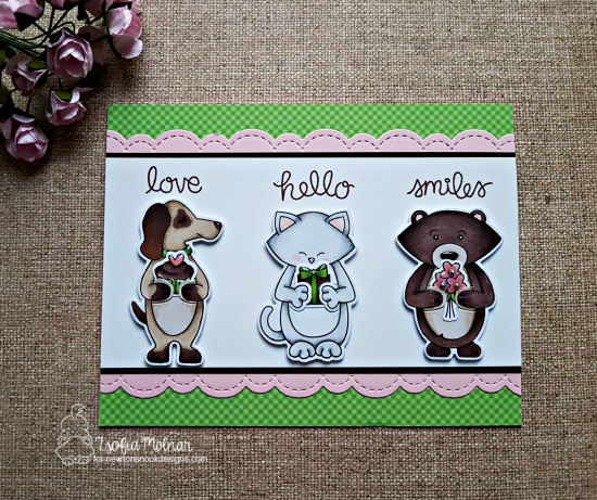 Love, hello, smiles by Zsofia features Sending Hugs by Newton's Nook Designs; #newtonsnook
