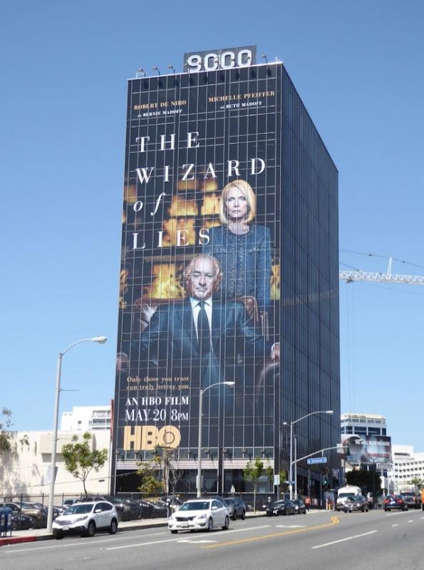 Wizard of Lies giant film billboard