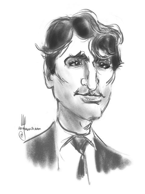 Justin Trudeau caricature by Ulf Artmagenta