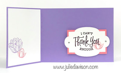 Stampin' Up! So Sentimental Lovely Lily Pad Card ~ Lily Impressions ~ Sale-a-Bration 2020 ~ Spring Mini Catalog ~ www.juliedavison.com