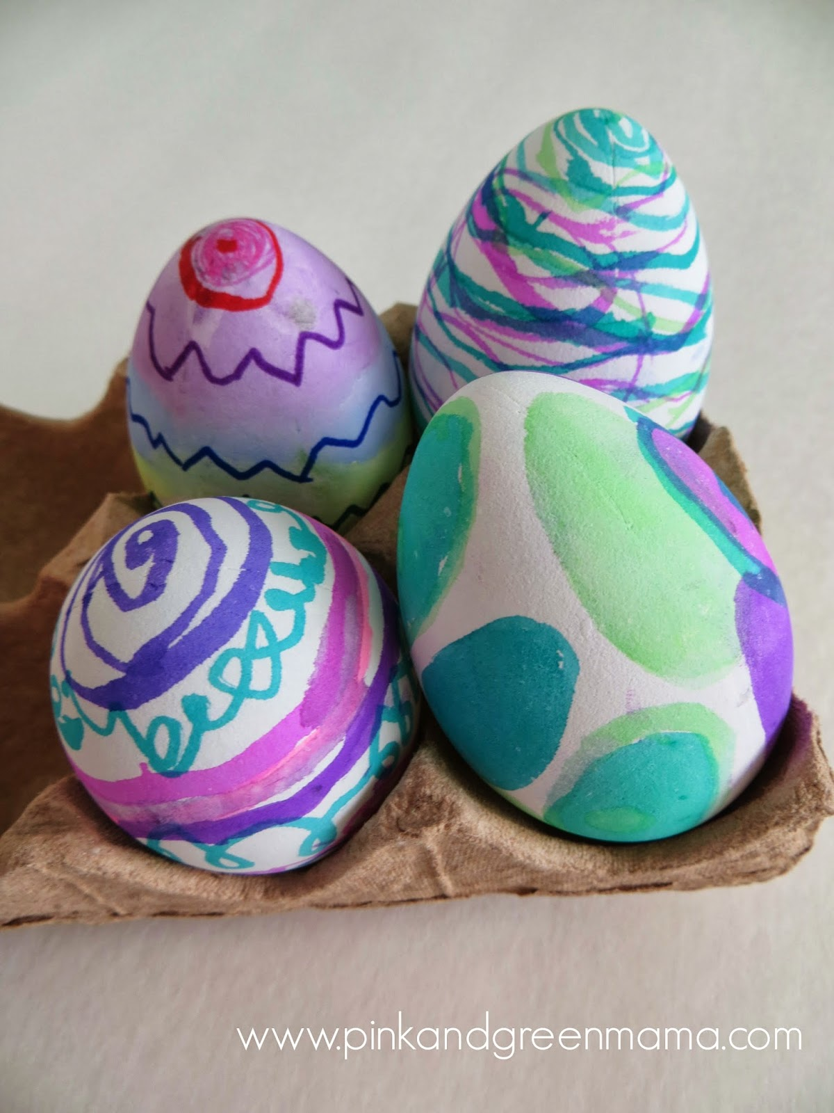 decorating easter eggs pink and green creative challenge easter eggs 30851