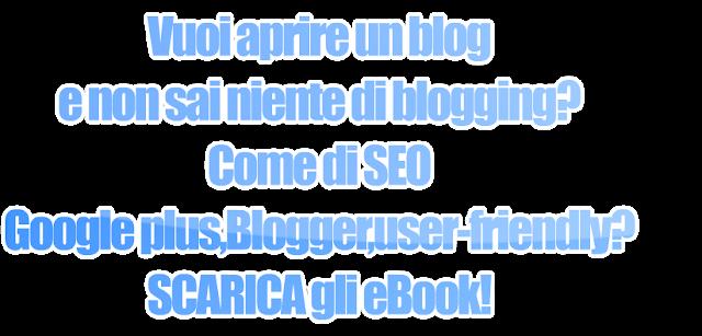 scarica ebook blogger blogging blog