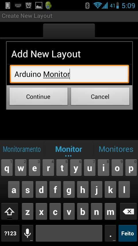 Android - Bluetooth - Nome Layout
