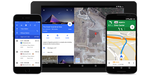 Google Maps updated for iOS and Android