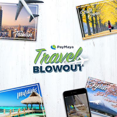 Win an all-expense paid trip for two to Taiwan, South Korea, Japan, Maldives in the PayMaya Travel Blowout promo