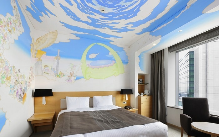 No. 5 Park Hotel Tokyo Artist Room 'Supernatural beings and the sky' designed by Nobuo Magome