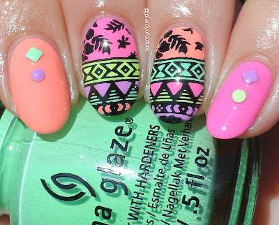 http://plenty-of-colors.blogspot.de/2016/08/stamping-sonntag-neon-tribal.html