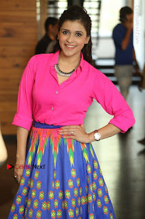 Actress Mannar Chopra in Pink Top and Blue Skirt at Rogue movie Interview  0114.JPG