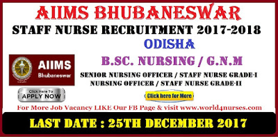 AIIMS Bhubaneswar 927 Staff Nurse Recruitment 2017-2018 Apply now