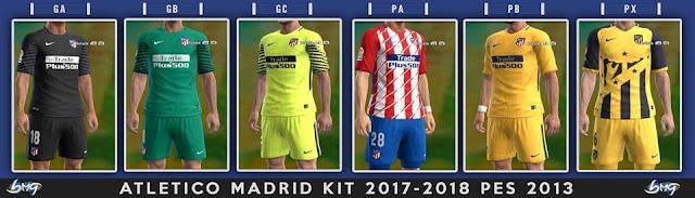 Atletico Madrid Kit 17-18 PES 2013