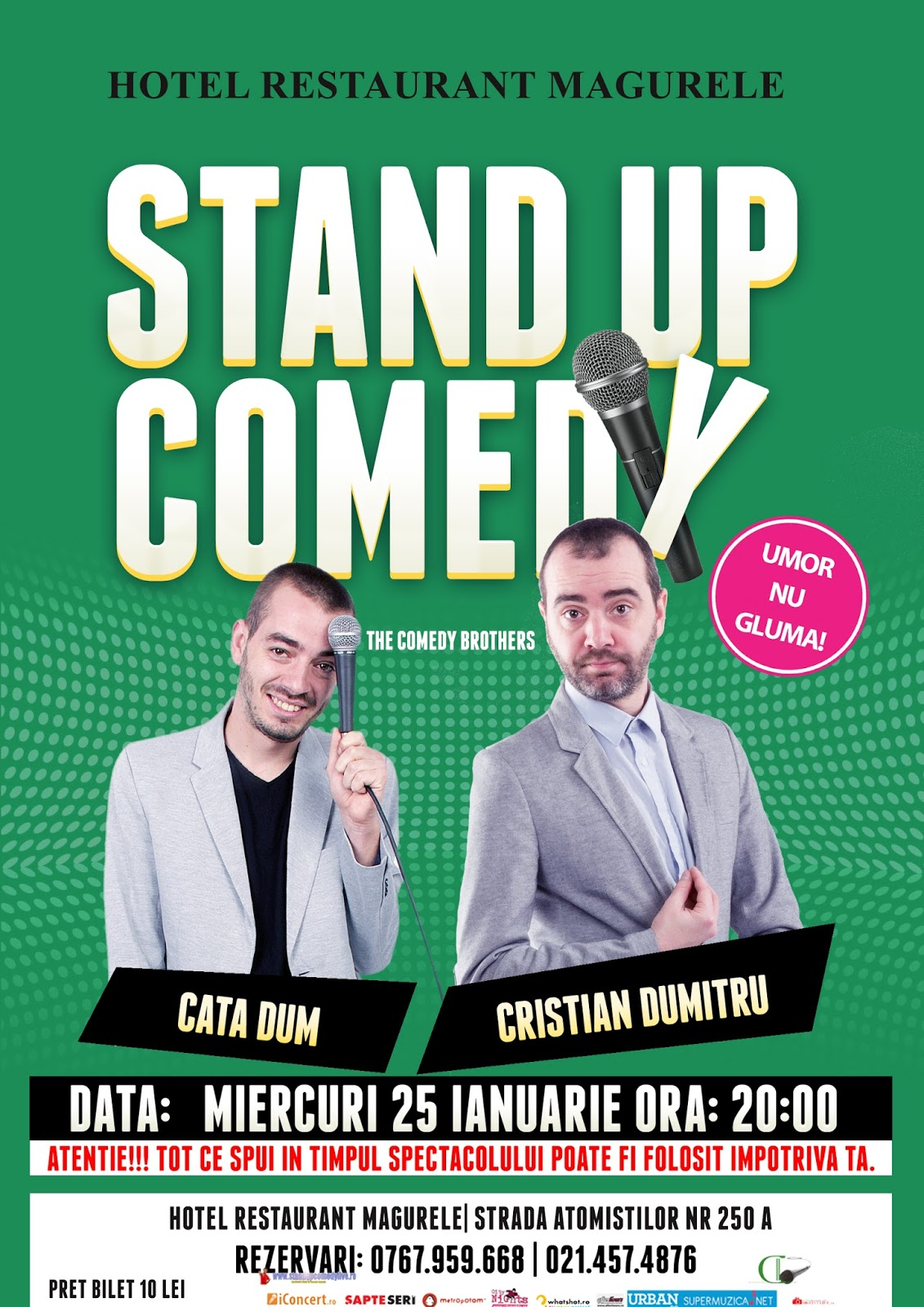 Stand-Up Comedy Miercuri 25 ianuarie Magurele