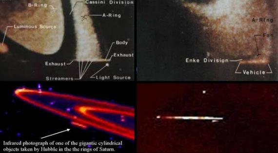 Resultado de imagen de Científico de la NASA encuentra una enorme nave espacial alienígena escondida en los anillos de Saturno